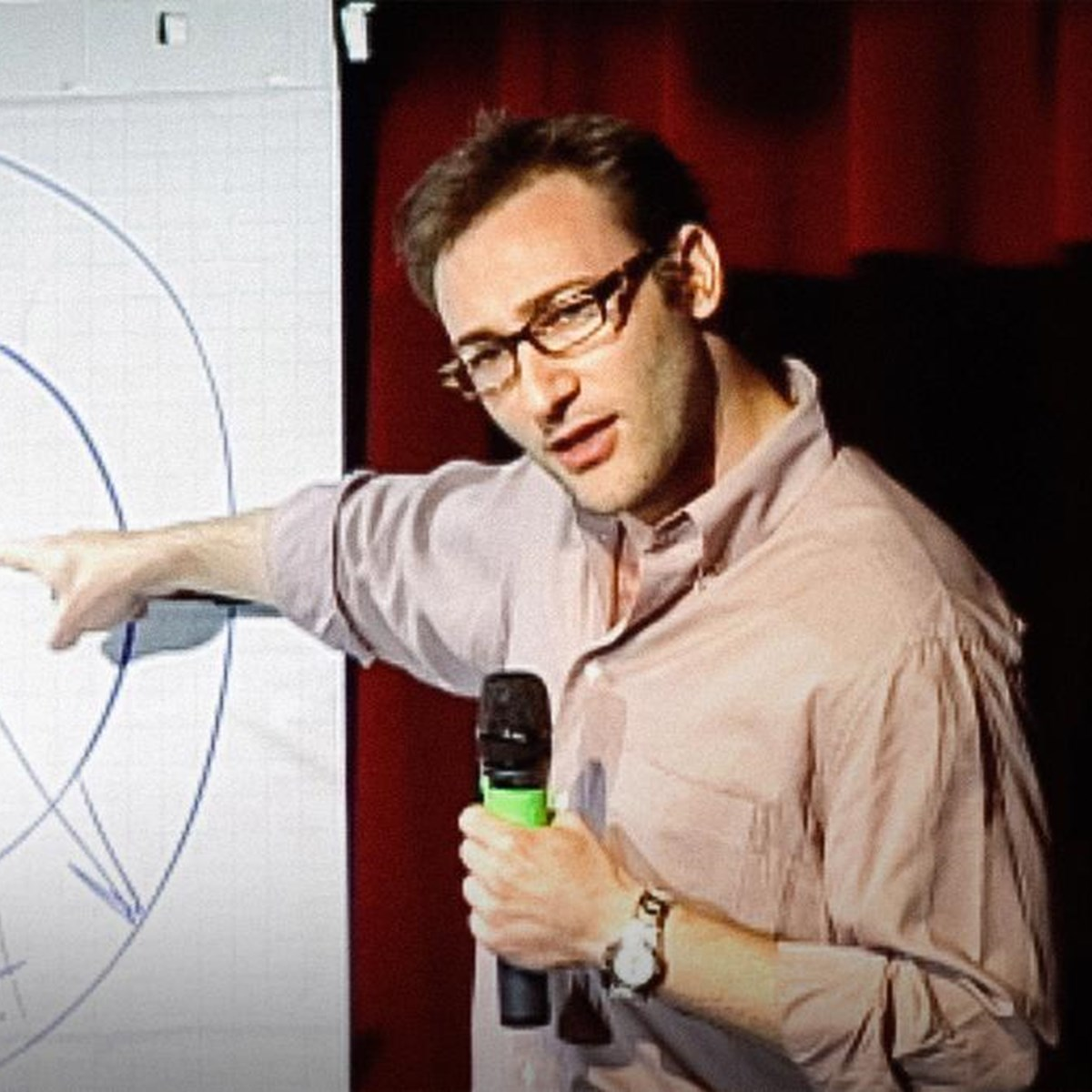 Simon Sinek in his TED Talk on How Great Leaders Inspire Change