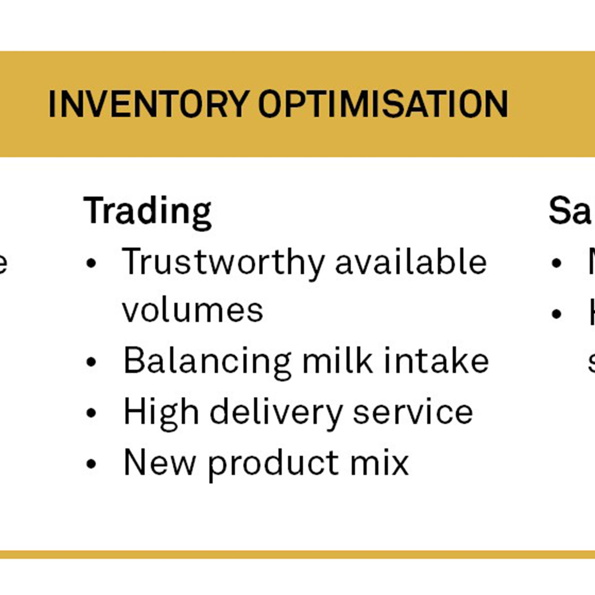 Releasing unnecessary capital in inventory increases the finances available for sustainable investments