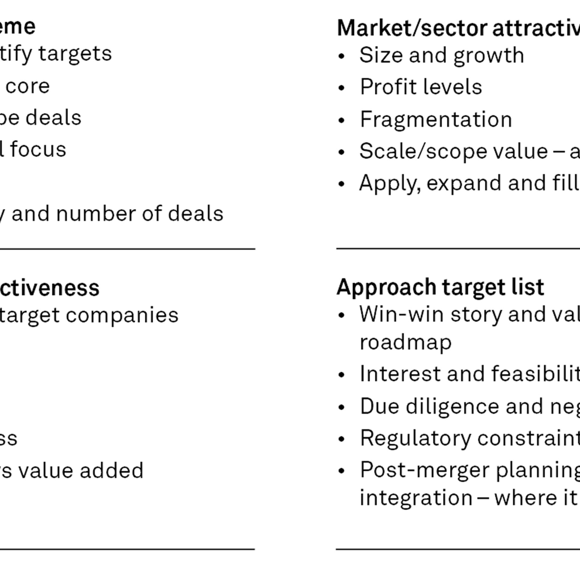 A practical mergers and acquisitions guide for general