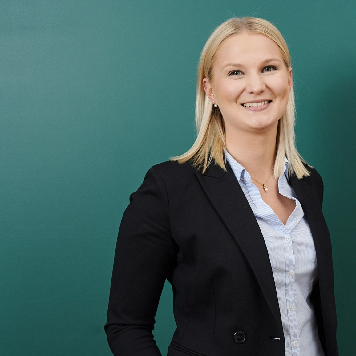Friendly and outgoing receptionist (or manager of first impression, as we call it) for our Stockholm office. Frida Öst from Implement Consulting Group.